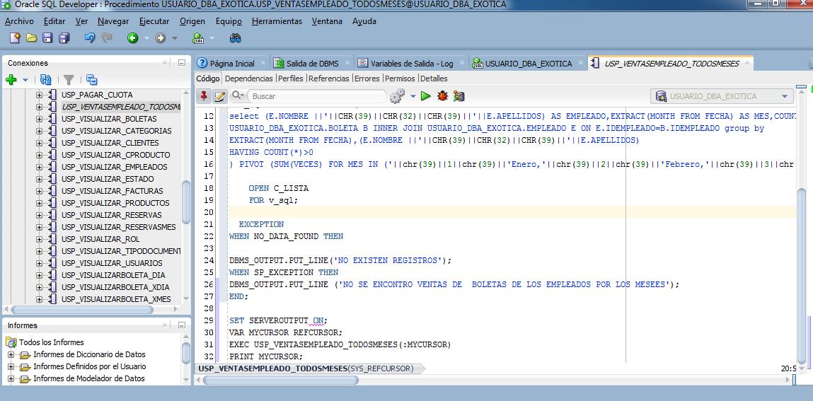 Pivot en Oracle 11g