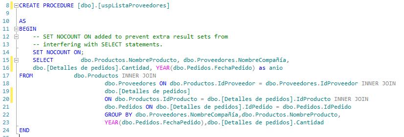 Procedimiento almacenado sin encriptacion sql server