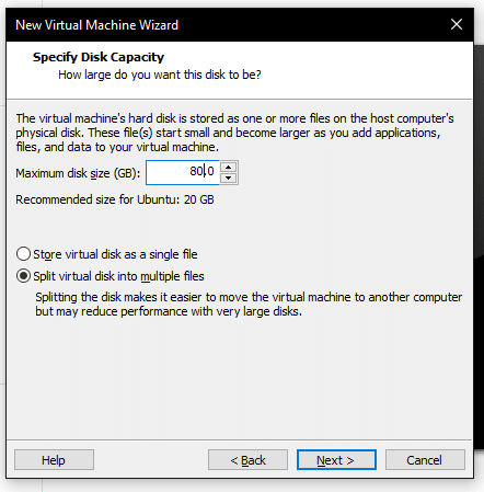Capacidad disco sistema operativo vmware