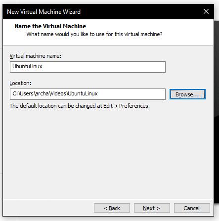 Nombre maquina virtual sistema operativo