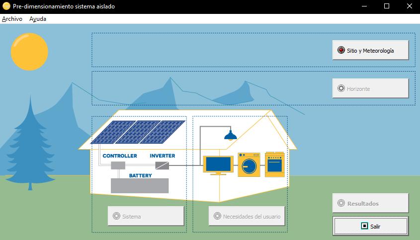 Pre-dimensionamiento de Sistemas Fotovoltaicos Aislados mediante el software PVsyst