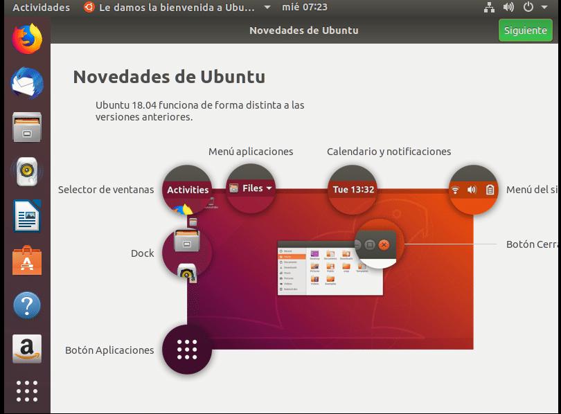 Ubuntu bienvenida vmware