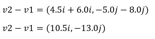resta vector ejercicio2 vector2