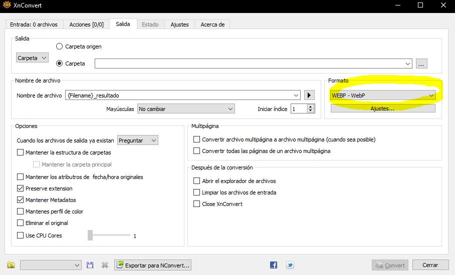 software xnconvert webp