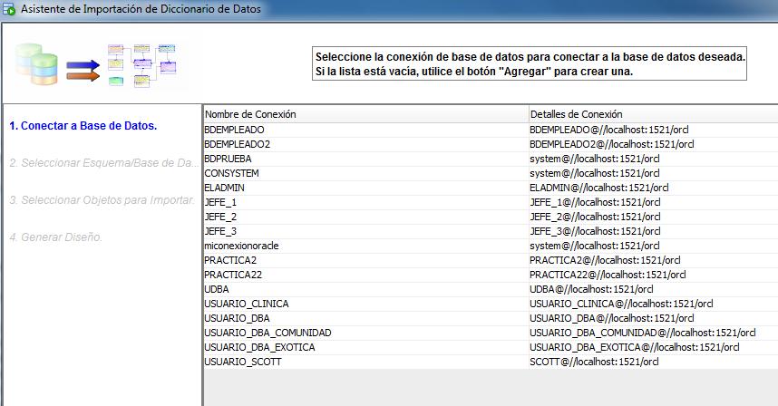 asistente importacion diccionario datos