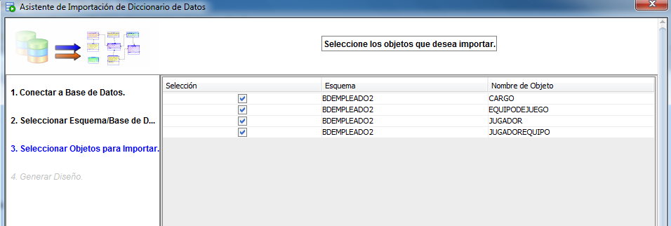 objeto base datos