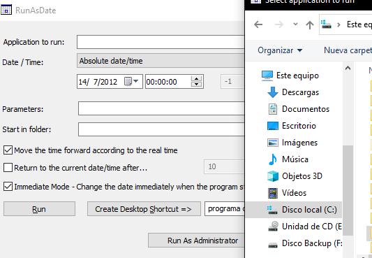 Iniciar un programa en una fecha y hora determinada usando RunAsDate