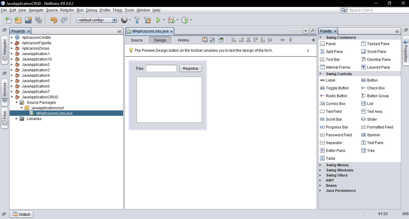 Agregando Items a un JList en Java Netbeans