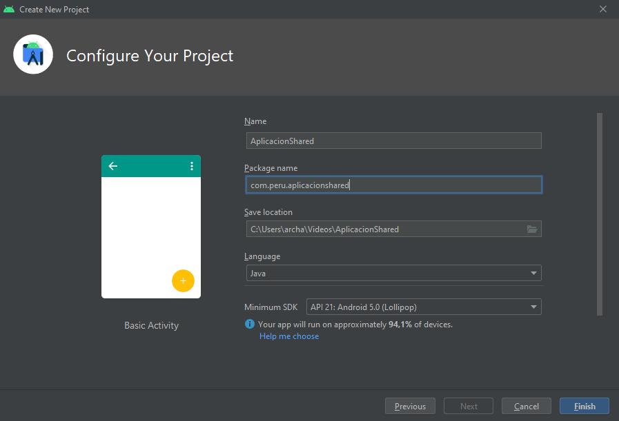 creando app shared preferences