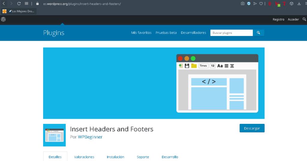 plugin insert headers footers wordpress