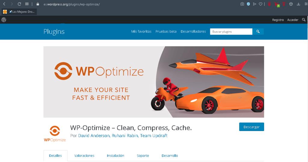 plugin wp optimize wordpress