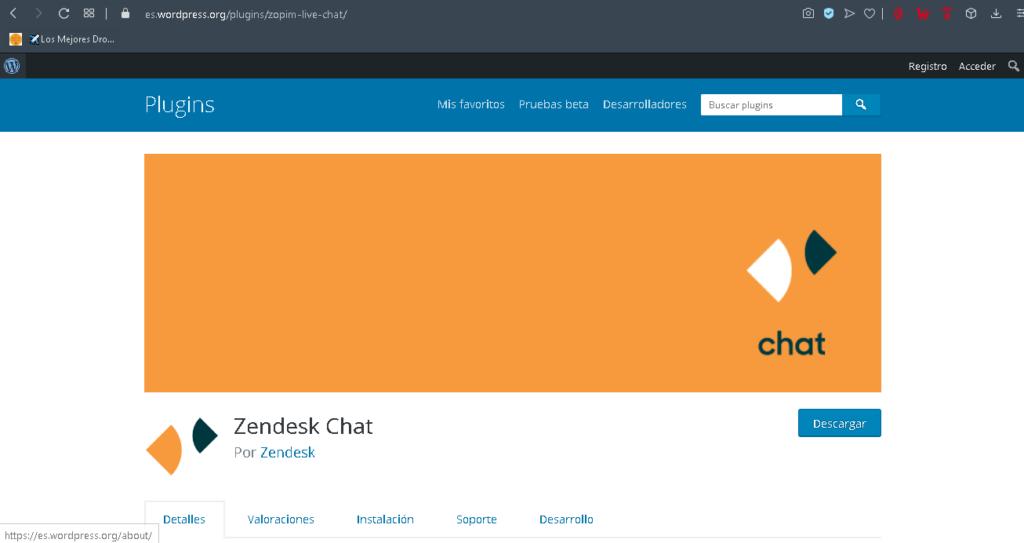 plugin zendesk chat wordpress
