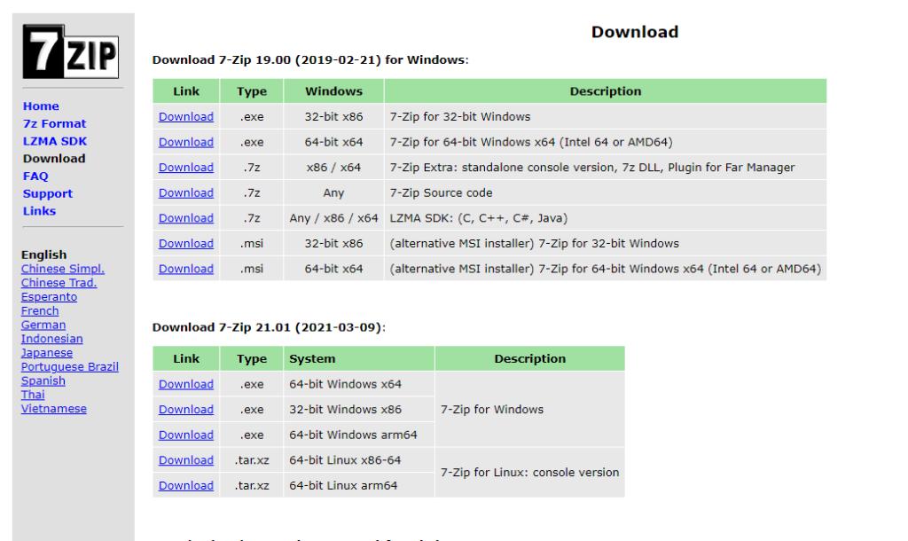 compresion archivos 7zip