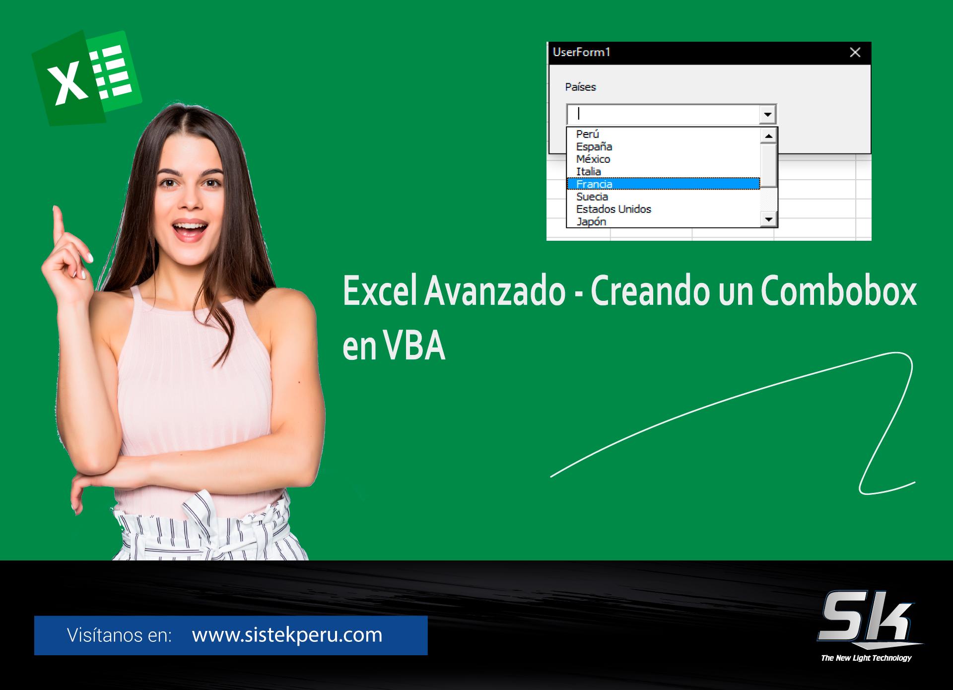 Excel Avanzado Creando un combobox en VBA