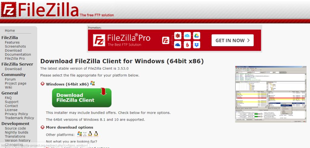 filezilla descarga sitio oficial