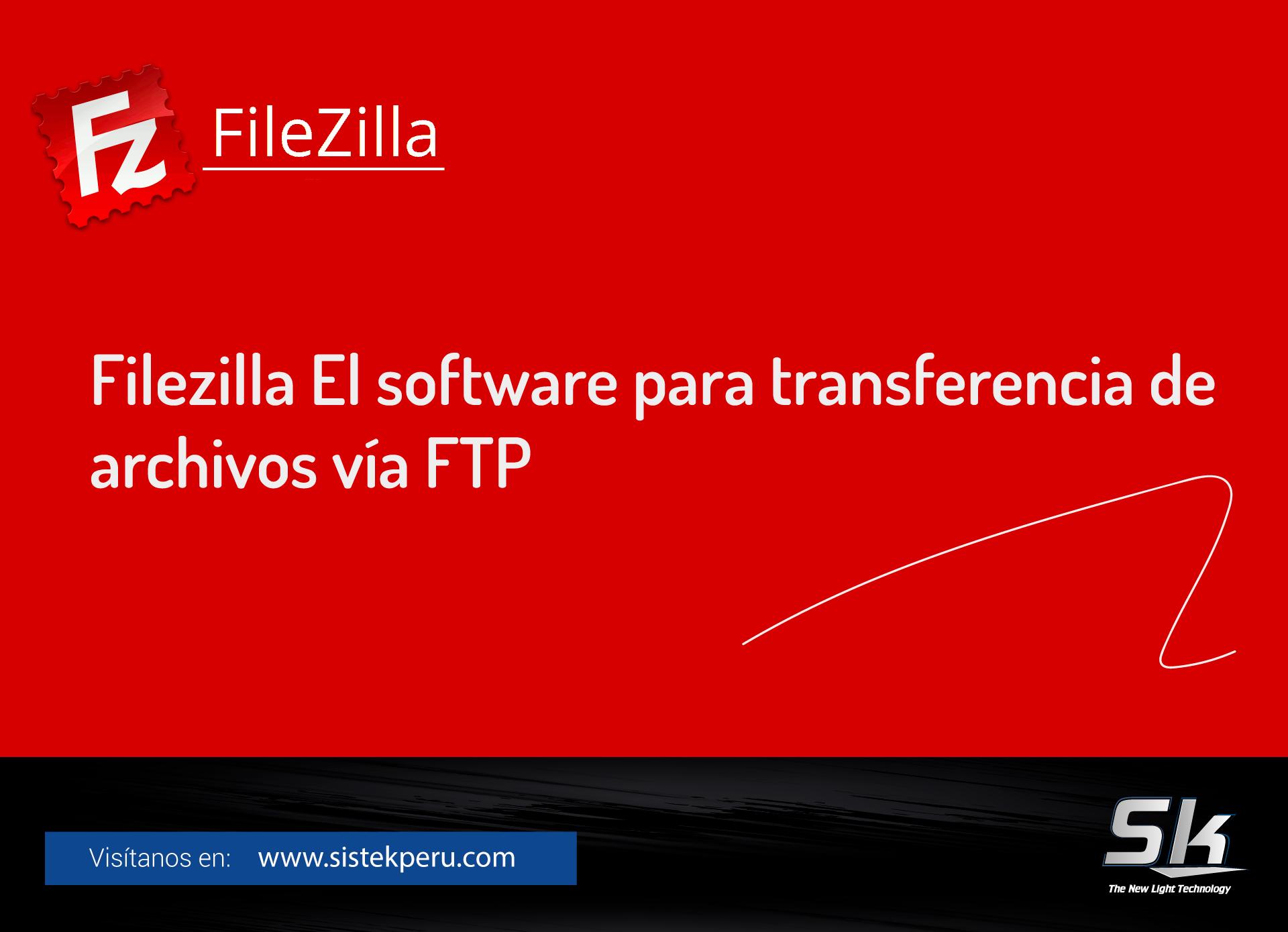 FileZilla el software para transferencia de archivos