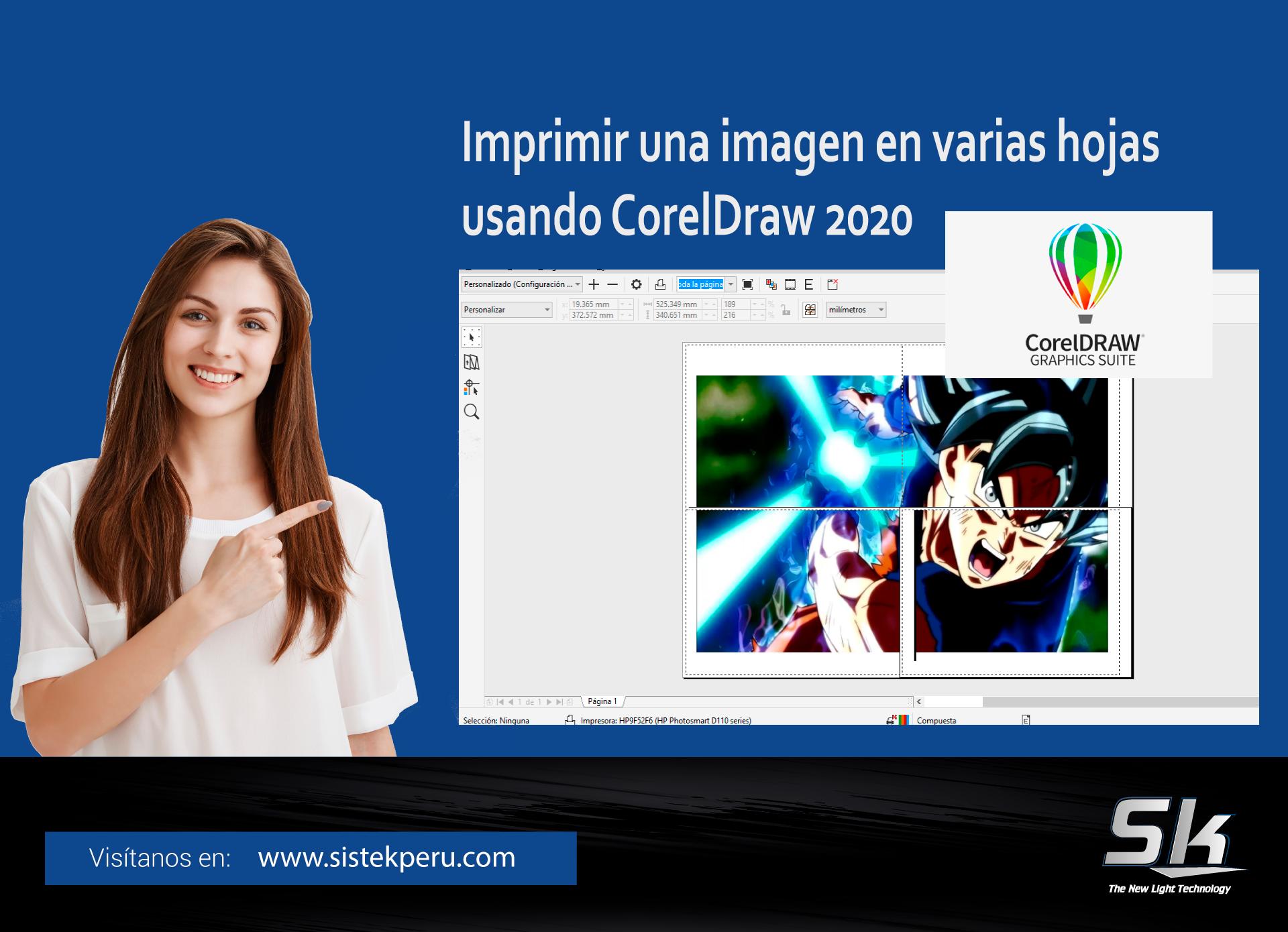 Imprimir una imagen en varias hojas usando Corel Draw