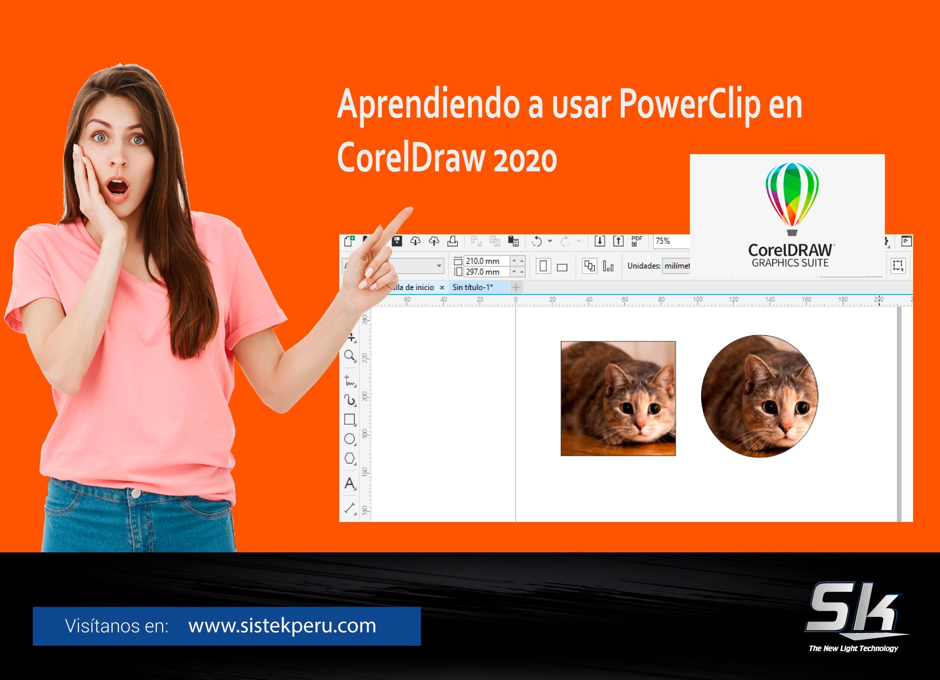 Aprendiendo a usar PowerClip en CorelDraw 2020