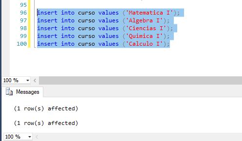 Crear tabla curso bdpracticacalificada
