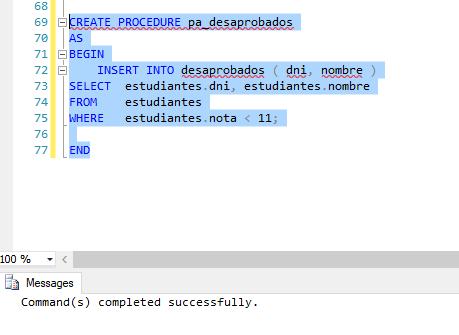Practica de SQL Server DBNotas