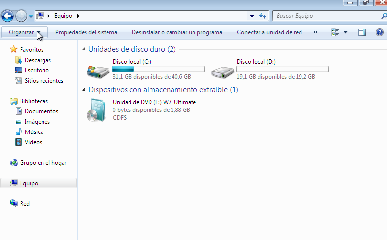 almacenamiento modificado mini tool partition