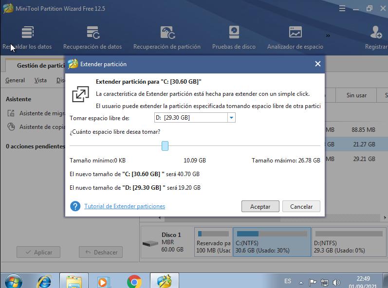 extender particion mini tool windows