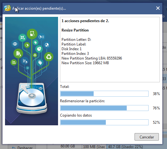 resize mini tool partition wizard
